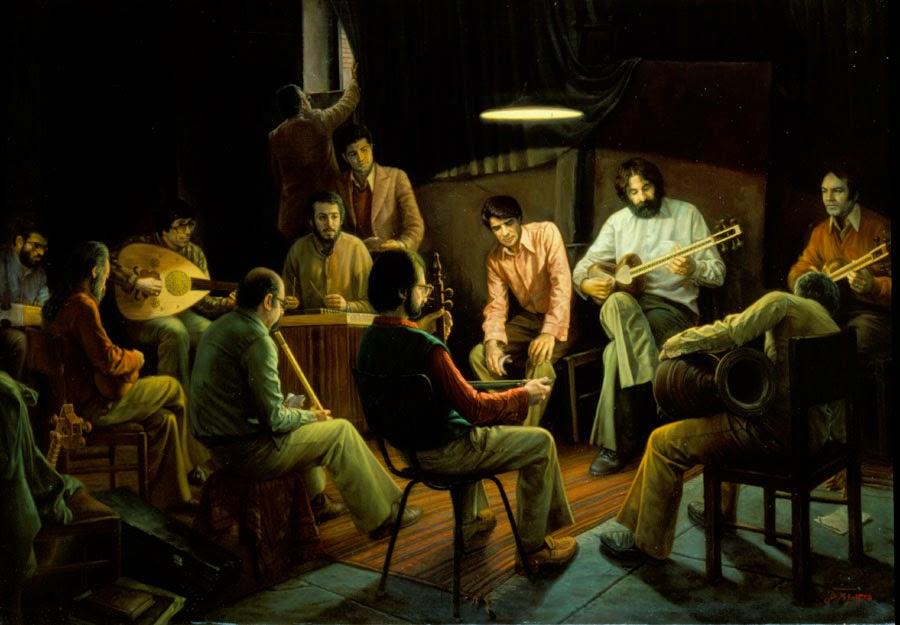 Compondo Música Secretamente - Iman Maleki e suas pinturas realistas ~ Pintor iraniano