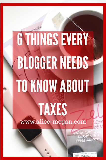 6 things every blogger needs to know about taxes