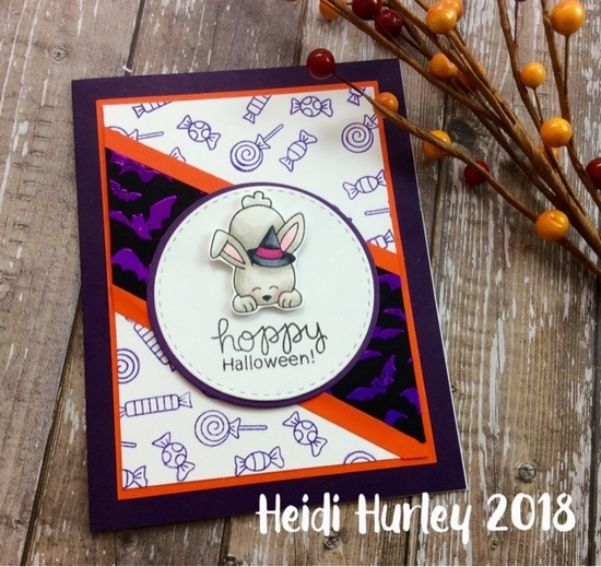 Hoppy Halloween by Heidi features Hoppy Halloween and Flying Bats by Newton's Nook Designs; #newtonsnook