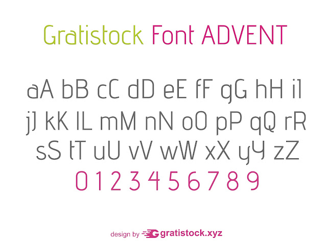 Free Download Font Advent Font Styel.