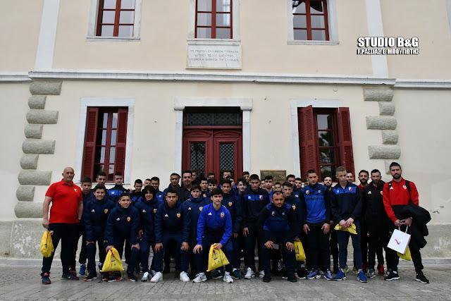 Πλημμύρα ποδοσφαιρικών ταλέντων στο Δημαρχείο Ναυπλίου