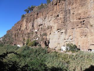 vistas de las casas cuevas de El Hornillo