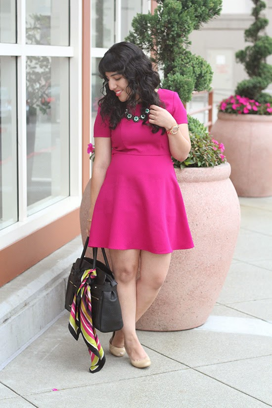 Collective Concepts Pink Dress Le Tote Outfit Review | Will Bake for Shoes
