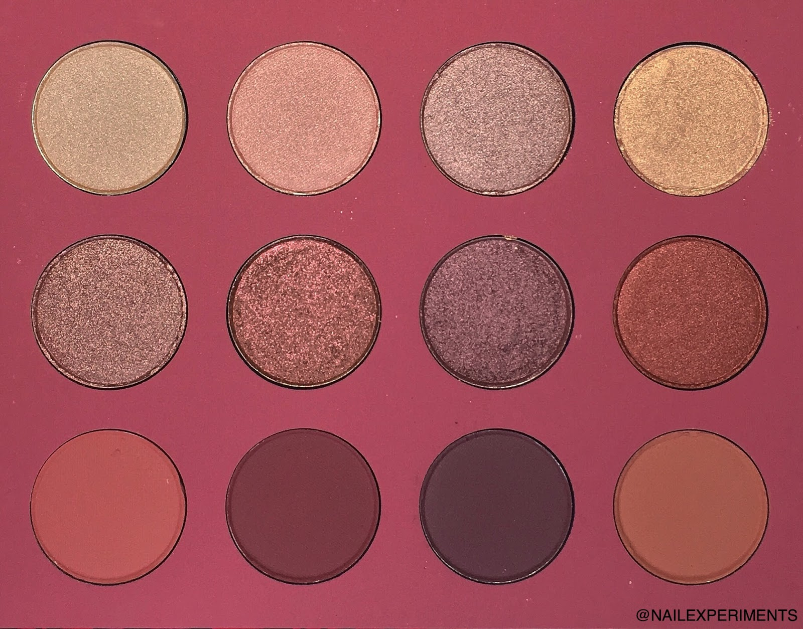 ColourPop Karrueche Fem Rosa She eye shadow swatches and review