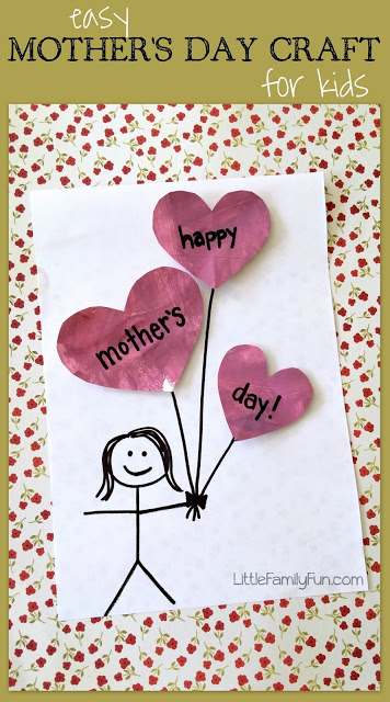 Little Family Fun Mother S Day Balloon Craft For Kids