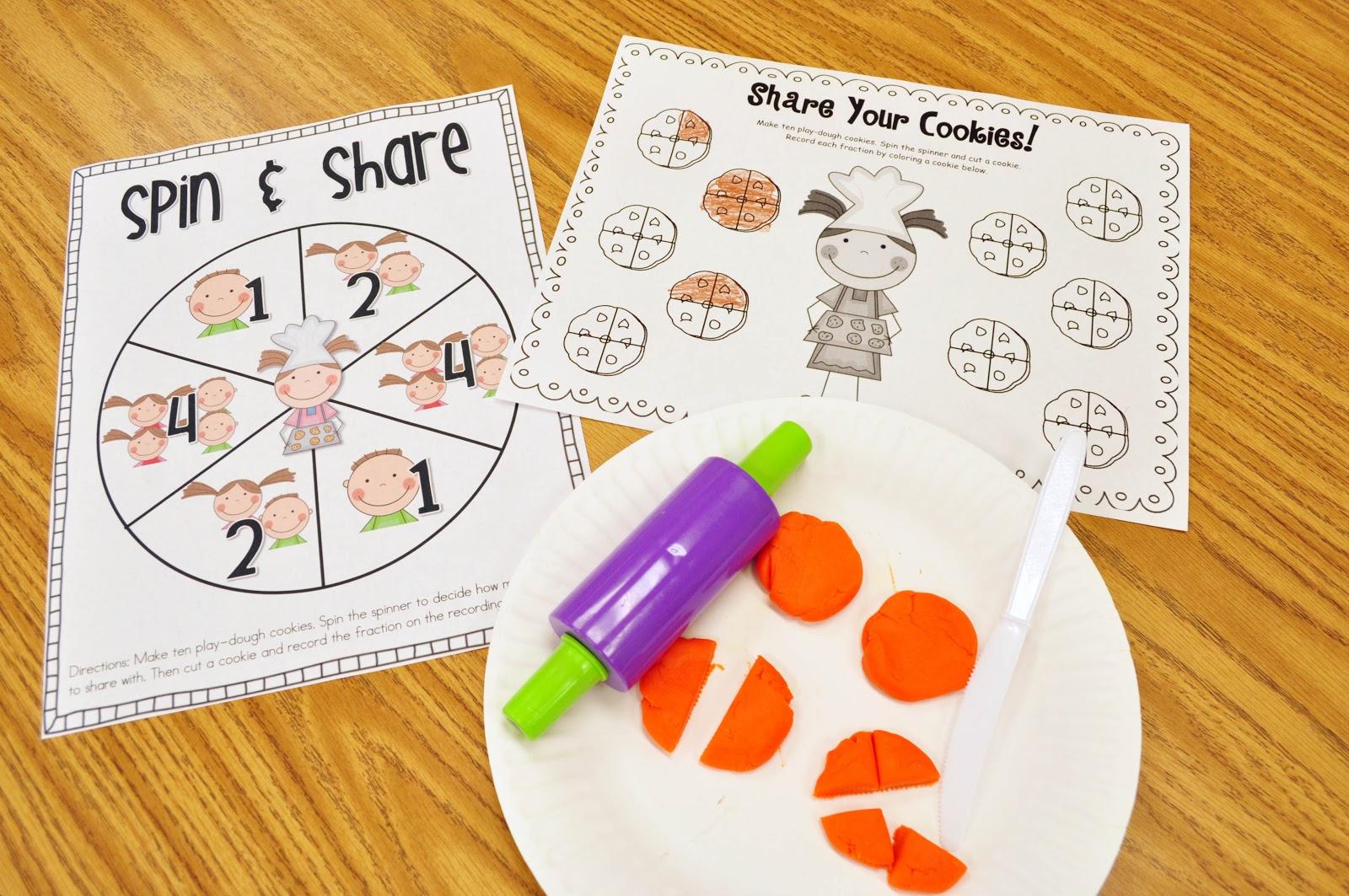 Mrs Ricca S Kindergarten Yummy Fractions Freebie
