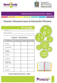 Examen Trimestral Primaria 4to grado 1er Trimestre
