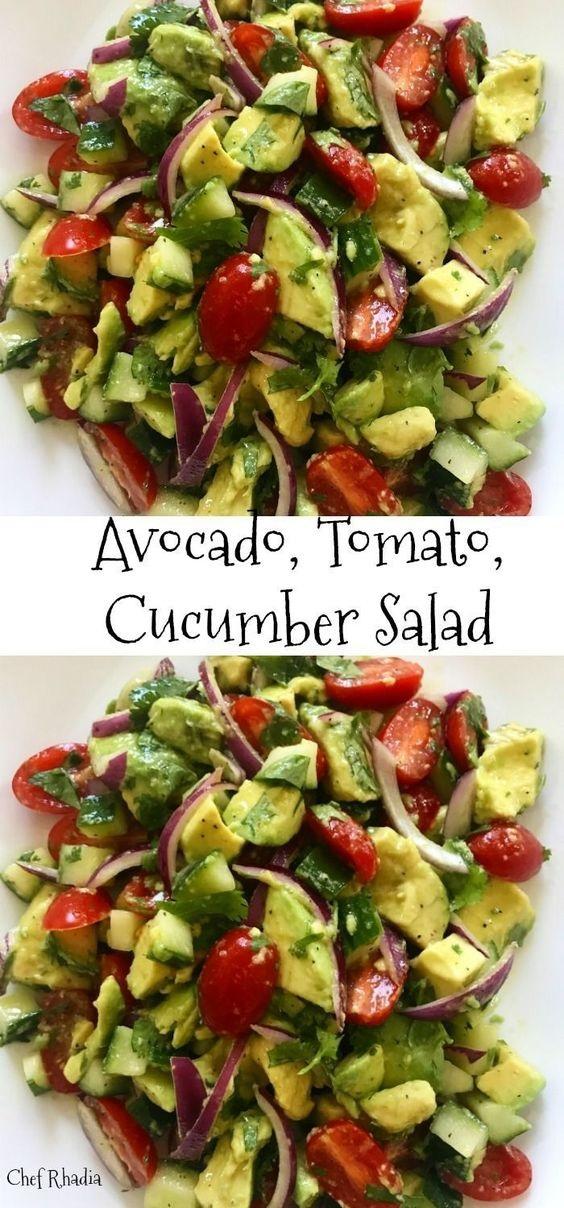 Avocado, Tomato, Cucumber Salad