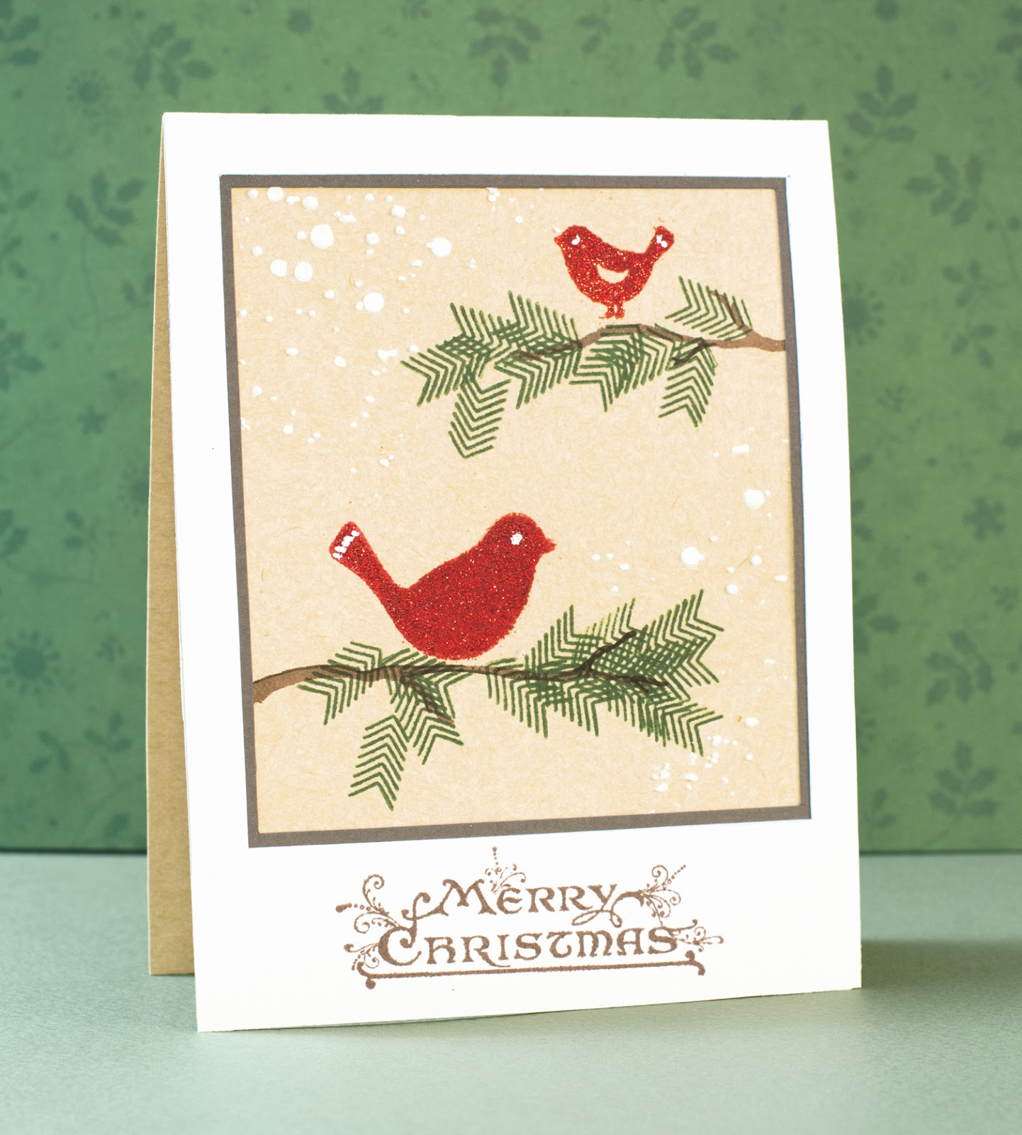 Cardmaking: Card for Craft Stamper TIMI November challenge: Christmas spirit with non-Christmas stamps