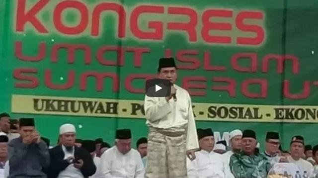 MasyaAllah! Mencengangkan Paparan Yusril Ihza Mahendra di Kongres Umat Islam Sumatera Utara