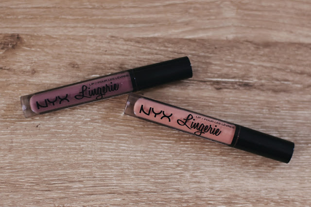 NYX Lip Lingeries in Babydoll and Embellishment on table