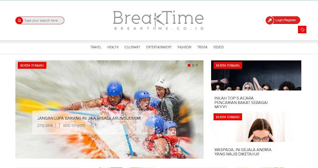 Breaktime Digital Lifesyle Portal Kesehatan