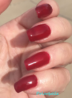 Luscious Red swatch, manicure