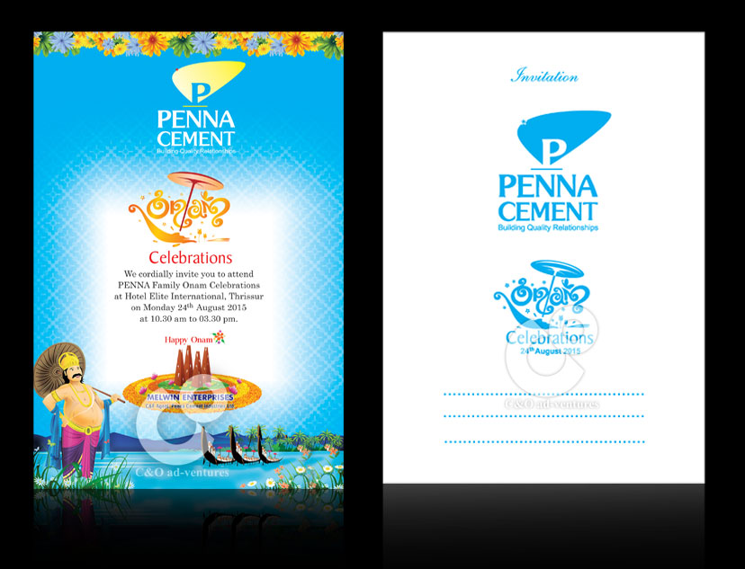 Onam Invitation For Penna Cements