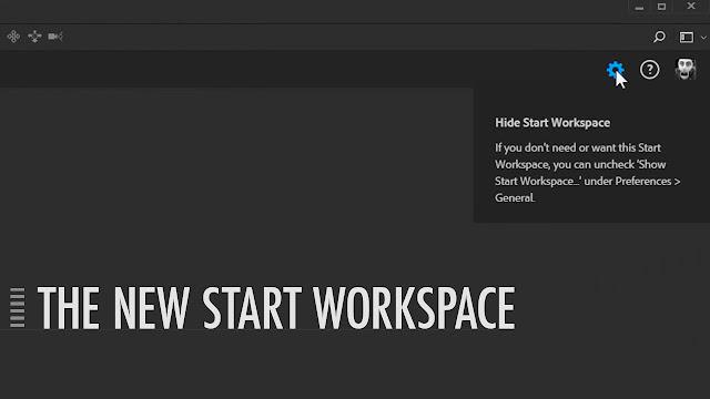 Photoshop CC 2017_ Start Workspace