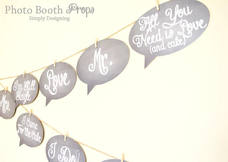 Rustic Glam Wedding Photo Booth Chalkboard Signs   #wedding #shutterflywedding @shutterfly #photobooth #printable