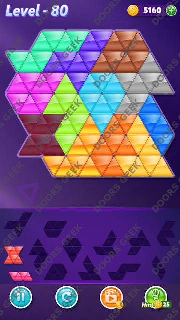Block! Triangle Puzzle Grandmaster Level 80 Solution, Cheats, Walkthrough for Android, iPhone, iPad and iPod