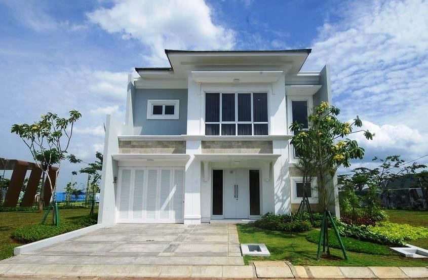 Desain Rumah Mewah 2 Lantai Tampak Depan