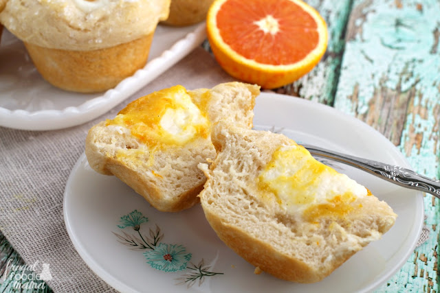 These easy to make, 4 ingredient Orange Creamsicle Danish Muffins can be on your breakfast table in less than 30 minutes.