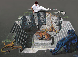 3D Art Jaguar Temple Optical Illusion