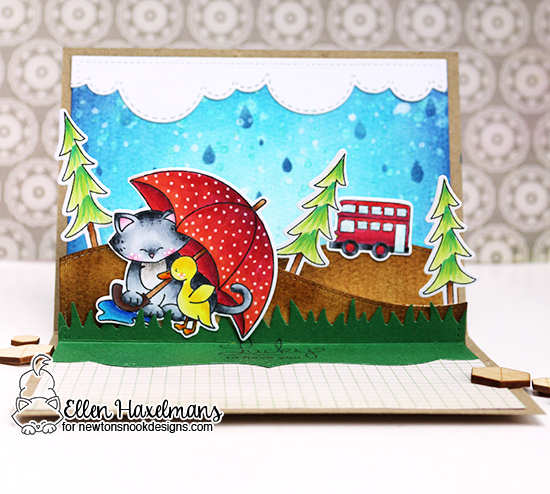 Lucky to Have You Interactive Card by Ellen Haxelmans | Newton's Rainy Day & more Stamps by Newton's Nook Designs
