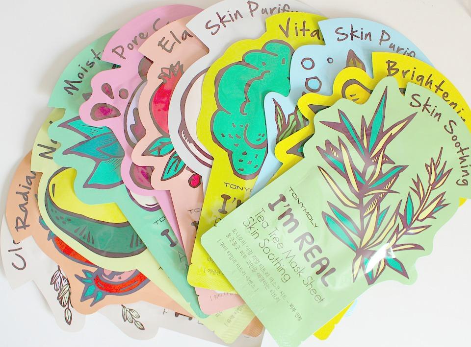 Korean Skincare: Tony Moly I'm Real Sheet Masks