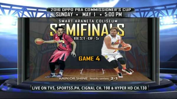 San Miguel vs. Rain or Shine: Semifinal Schedule, Results, TV and Live Stream Info (2016 PBA Commissioner's Cup)