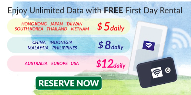 Unlimited Data with FREE First Day Rental with CHANGI RECOMMENDS