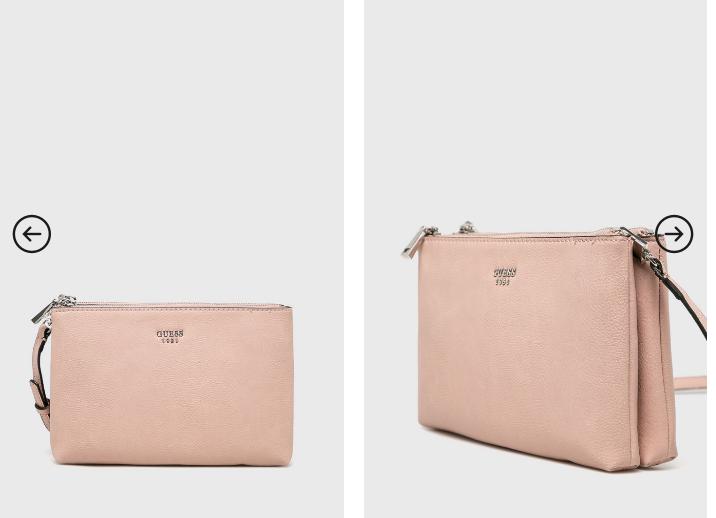 Poseta Guess Jeans roz originala de firma la pret mic online
