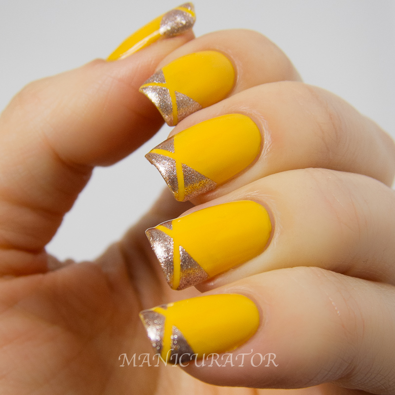 Pomegranate Royal Fairy Tale Nail Art Swatch And Review Geometric