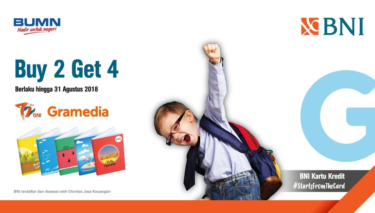 Bank BNI - Promo Buy 2 Get 4 di Gramedia (s.d 31 Agustus 2018)
