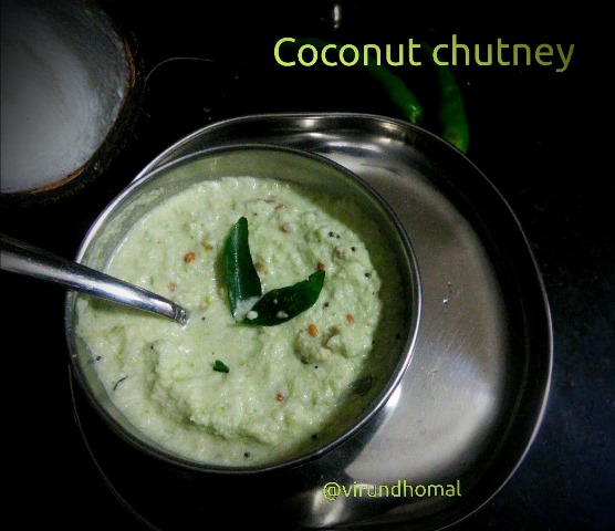 Coconut chutney with green chillies|Thengai chutney|How to prepare Coconut chutney with step by step instructions|Chutney recipes
