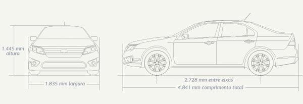 Ford Fusion: Dimensões e especificações do Ford Fusion