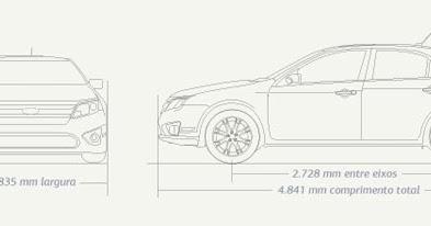 Ford Fusion Dimens 245 Es E Especifica 231 245 Es Do Ford Fusion
