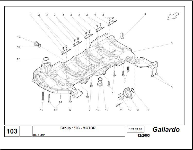 LAMBORGHINI GALLARDO 2003–2008 WORKSHOP MANUAL
