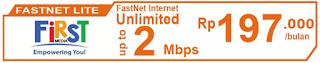 Paket Internet First Media FastNet Lite