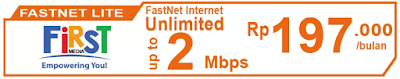 Paket Internet First Media FastNet Lite