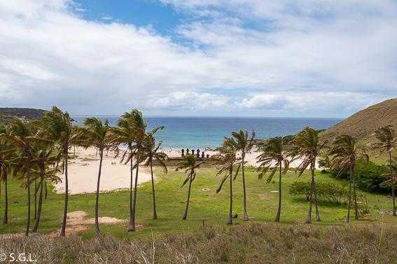Playa Anakena Isla de Pascua. Que ver en tres dias