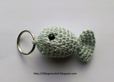 Llavero Pez Amigurumi Fish Crochet Key Ring