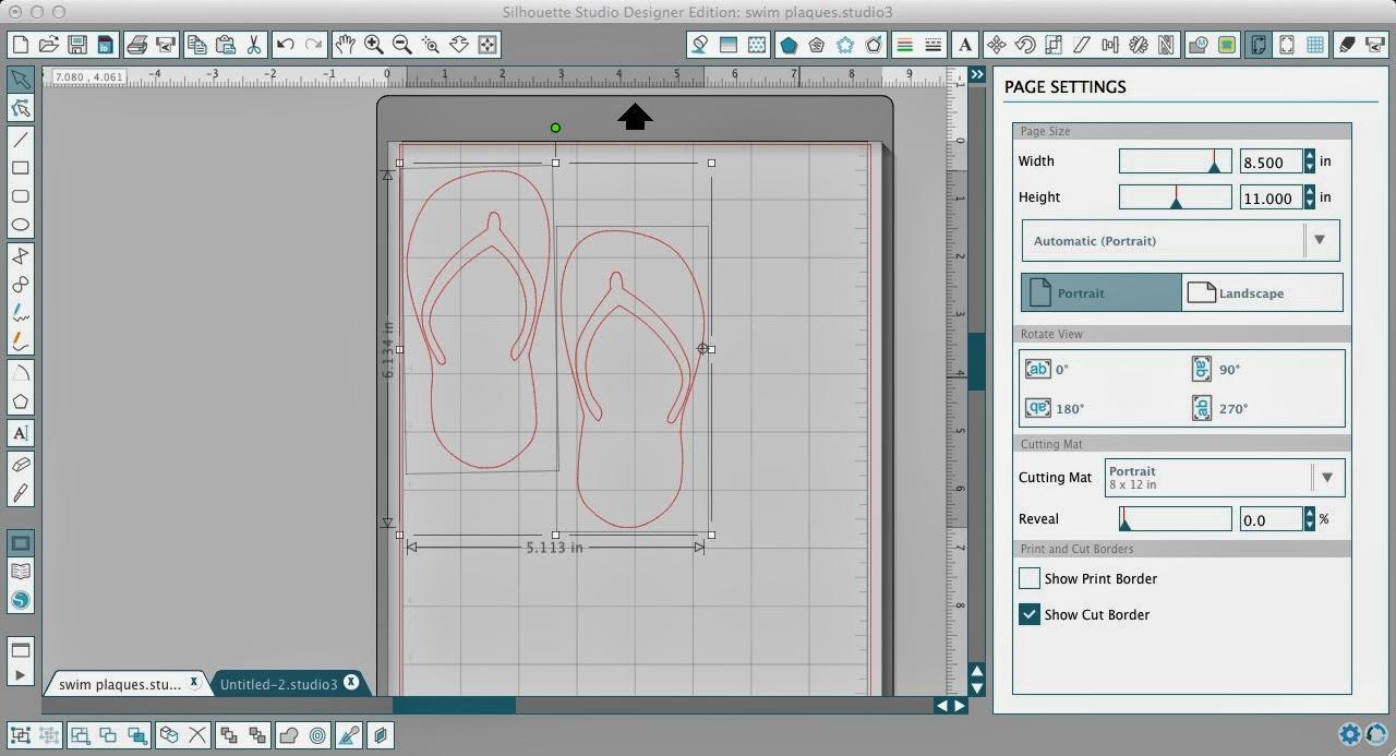 Silhouette Studio, custom, rhinestone designs, Silhouette tutorial, flip flops