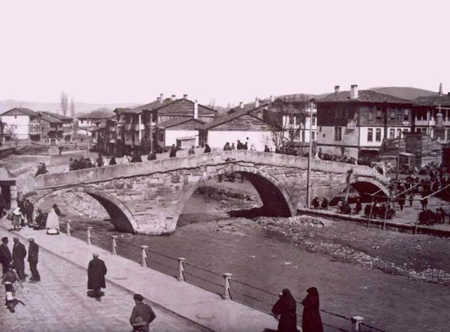 Kastamonu Nasrullah Köprüsü (Kambur Köprü) eski fotoğrafı.