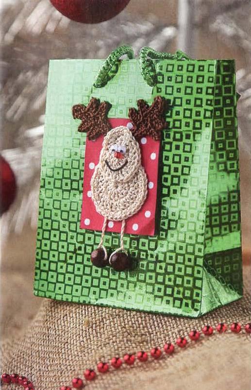Декор подарочного пакета «Олень»