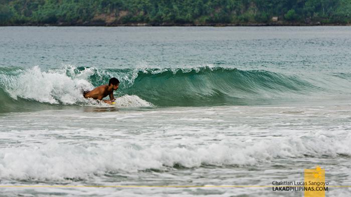 El Nido Nacpan Beach Palawan Skimboarding