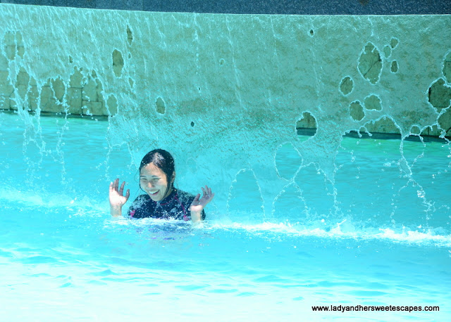 Lady at Bluewater Maribago swimming pool