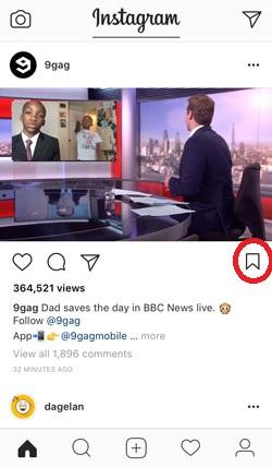 fitur save post instagram