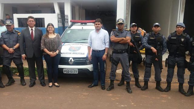 Governo entrega nova viatura para atividades da Polícia Militar em Vitorino Freire