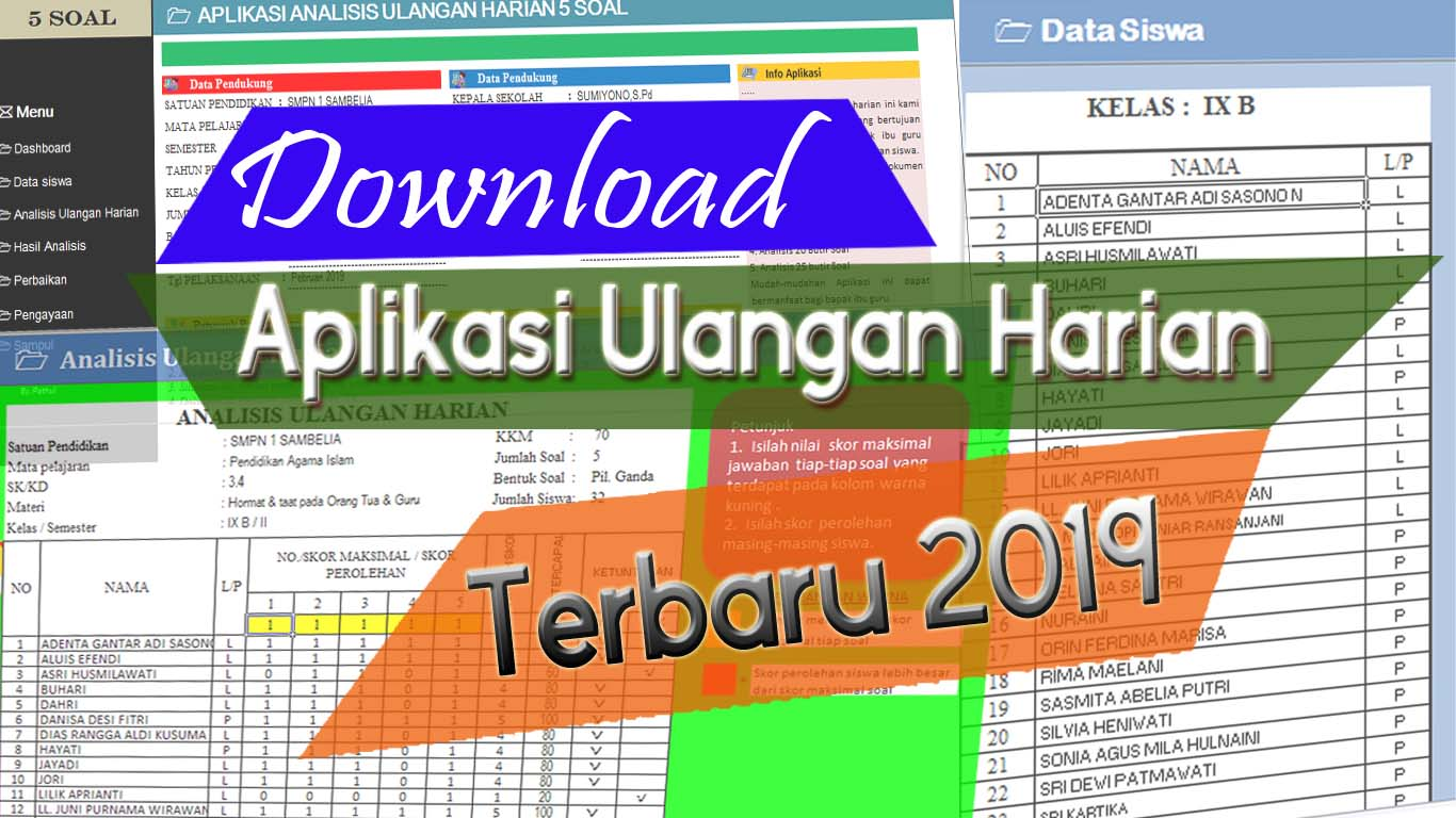 Download Aplikasi Analisis Ulangan Harian Revisi 2019 Foppsi Wanasaba