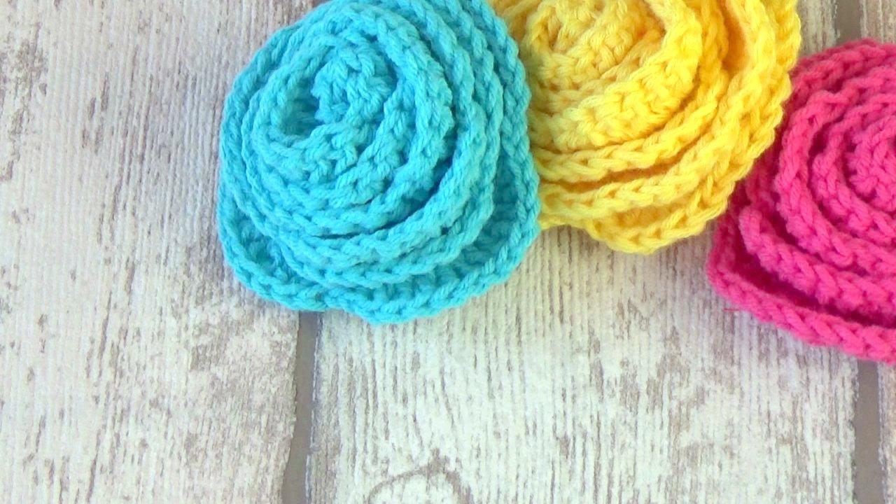 De verdad crochet: Patron de Flor rosa en crochet facil | rosa en ...