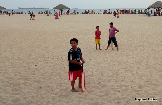 beach cricket at malpe beach
