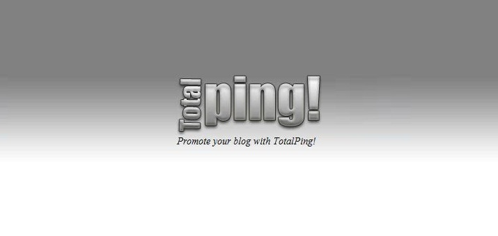 Tutorial Cara PING Blog di TotalPing